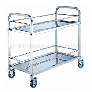 Stainless Steel Cart   Two Shelf, 750x400x835mm, SN DC14A
